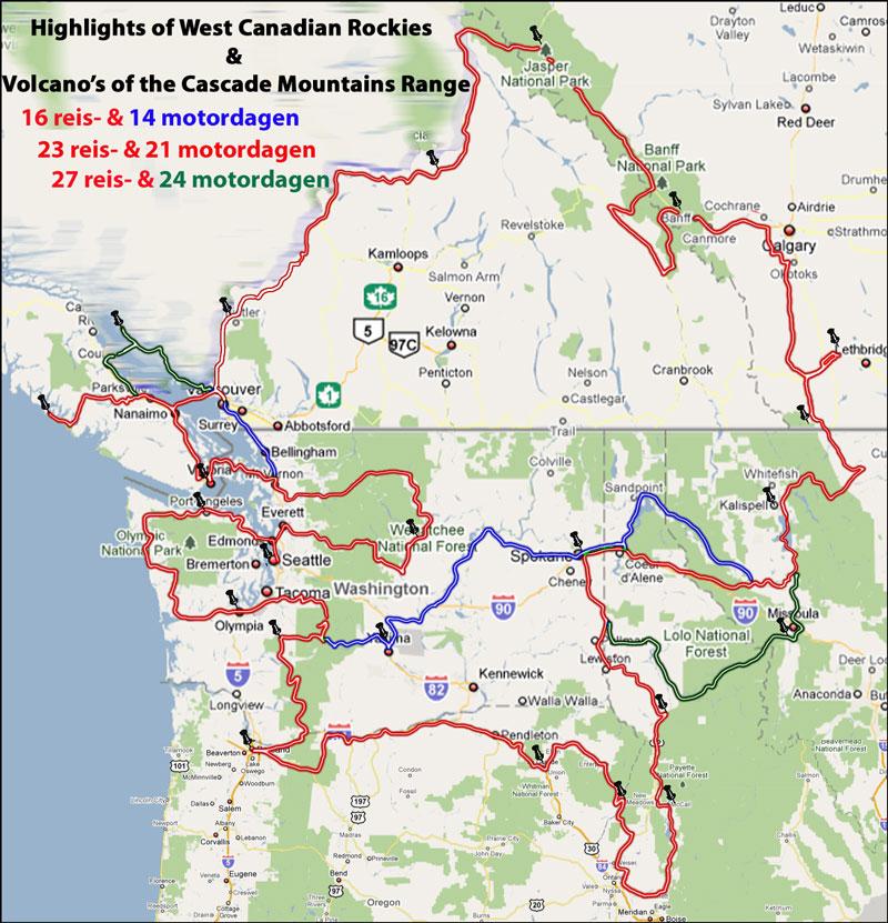 2 West Canada & Cascade Range