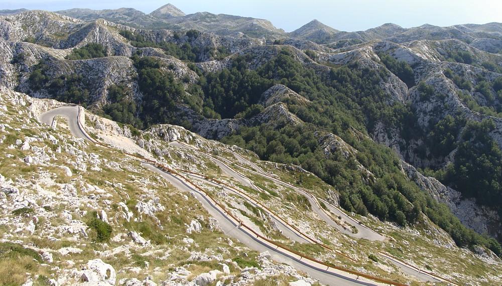 Weg naar de top Sveti Jure