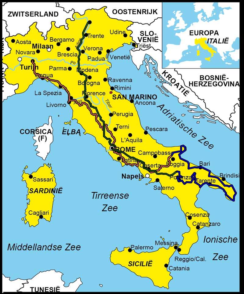 toeristische plaatsen italie