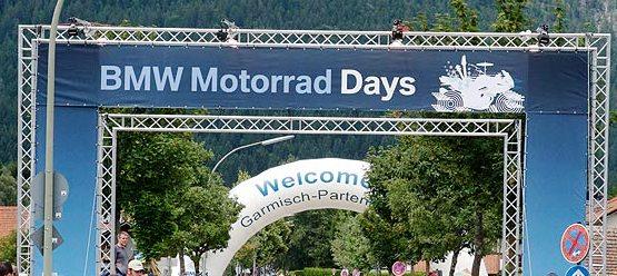BMW motorrad days met Eu motorreizen